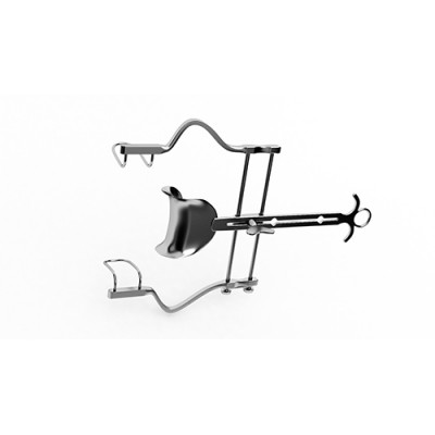 "Balfour Abdominal Retractor W/ Fixed Side Blades - 2 1/2"" Deep"